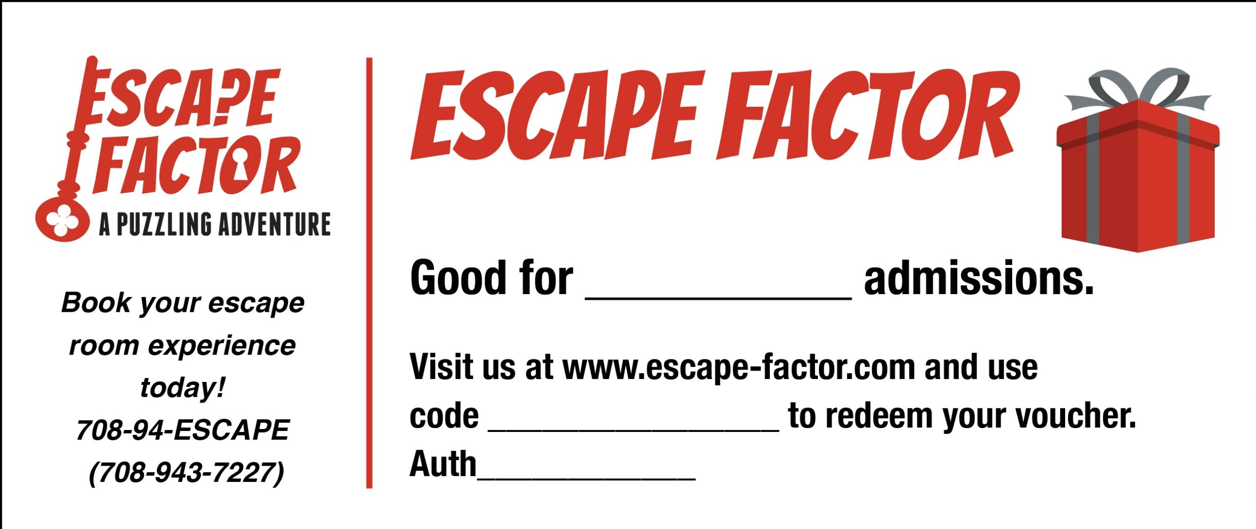 Escape Factor Gift Voucher
